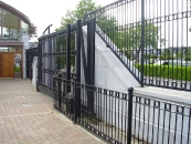 Automated Cantilever Gate and railings at Francis Street Credit Union
