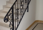 Decorative 'Tradition' Style Newel Post and Rail