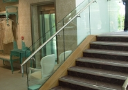 Glass Balustrade with Stainless Steel Canilever Handrail - Galway (2)