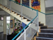 St. Clements - Perforated Mild Steel Stair Guarding