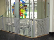 St. Clements - Perforated Steel and Glass Rail